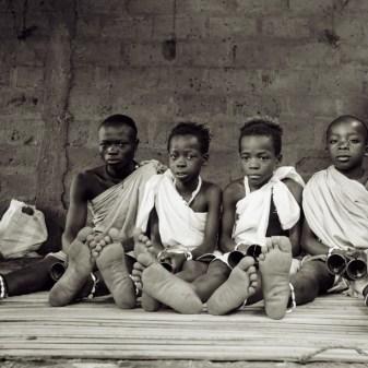kinderen in een convent in Applahoué