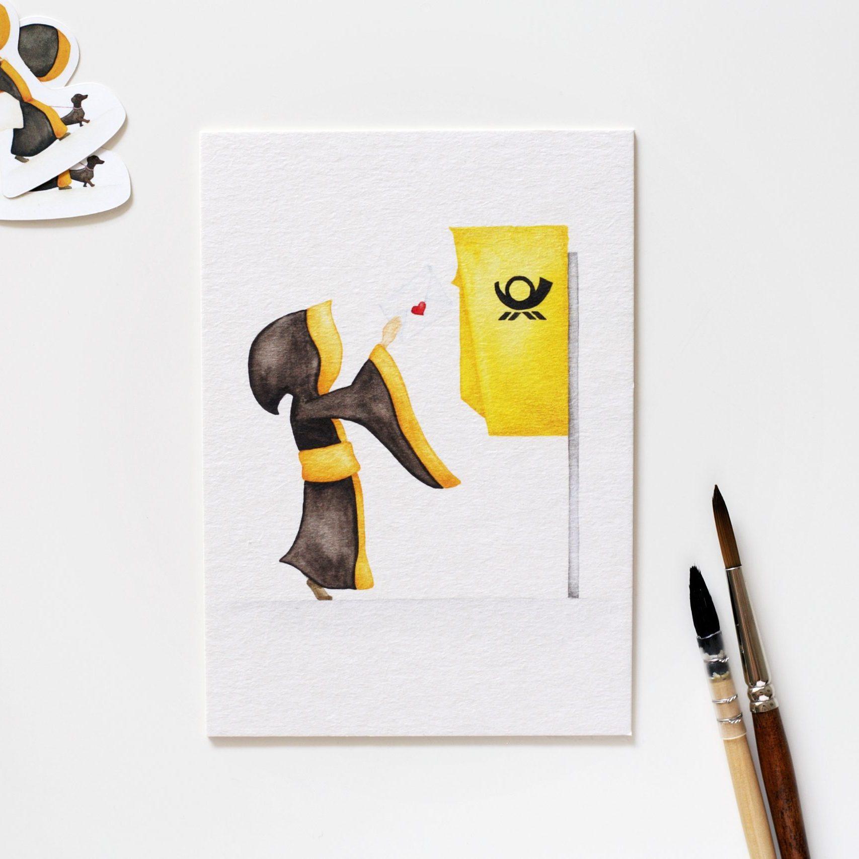 Münchner Kindl Postkarte – Liebesbrief