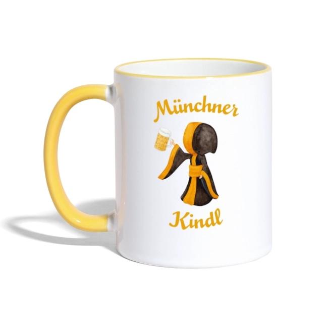 Münchner Kindl Tasse mit Masskrug Bier - Keramik