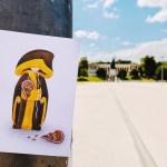 Koa Wiesn 2020 Postkarte auf der leeren Theresienwiese