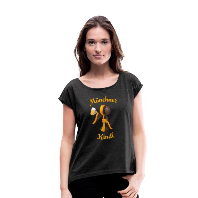 Münchner Kindl mit Mass Bierkrug - T-Shirt Damen