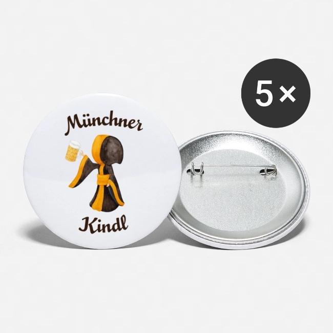 Münchner Kindl Buttons Anstecker - Prost mit Maß Bier