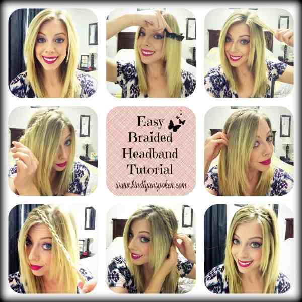 Easy Braided Headband Tutorial-Kindly Unspoken
