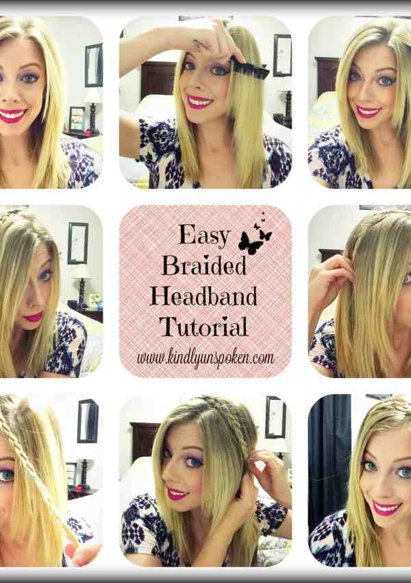 Easy Braided Headband Tutorial