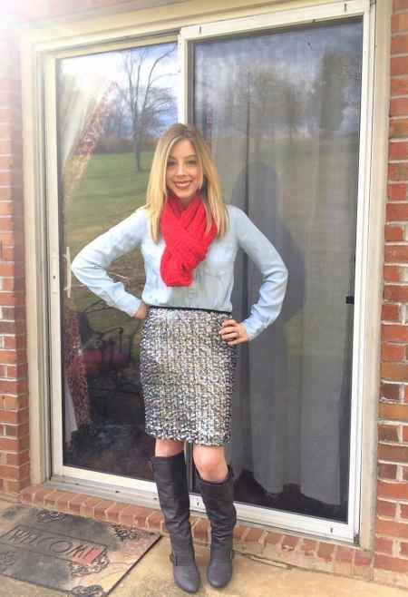 holiday sequin skirt