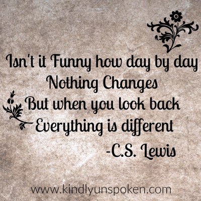 everything is different quote