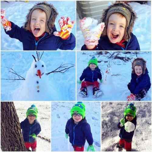 Boys Snow Fun