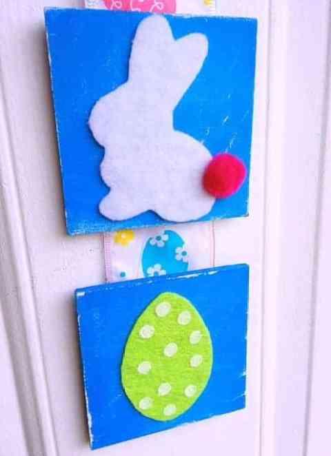 Easter Tile Door Hanger DIY (18)
