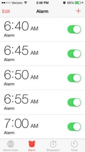 iPhone alarm funny