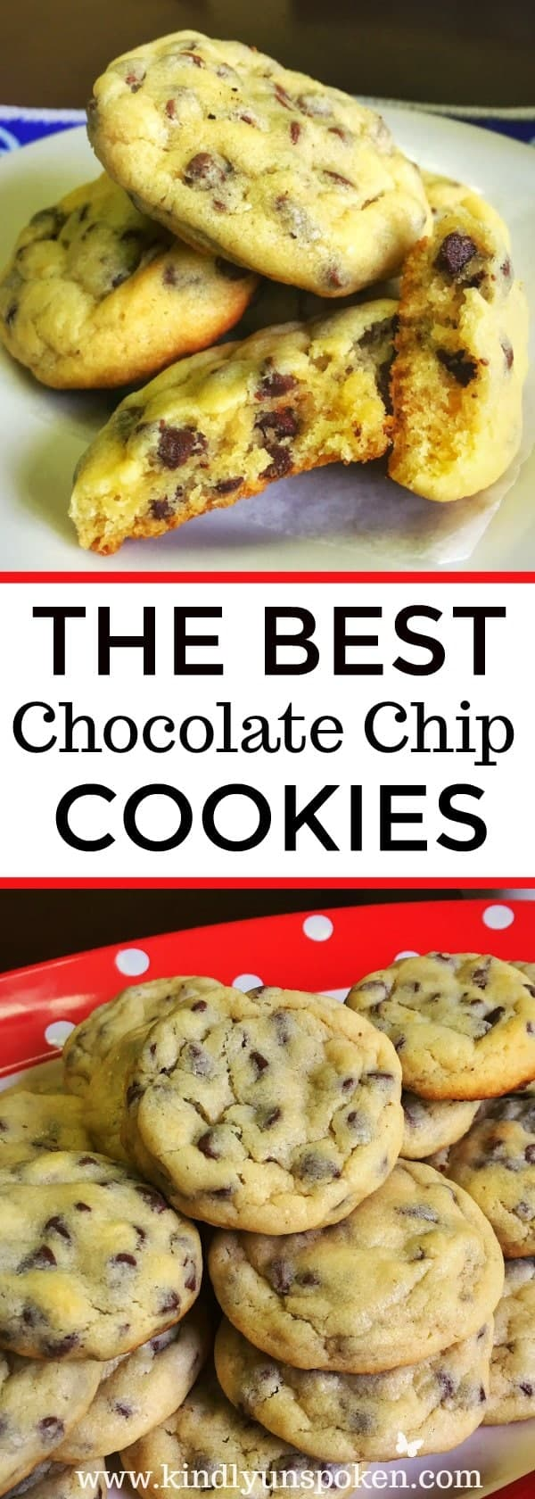 Mom's Famous Chocolate Chip Cookies- Searching for the best chocolate chip cookie recipe? Look no further and give my Mom's Famous Chocolate Chip Cookies a try! These homemade cookies are soft, gooey, and really are the best ever cookies around. Even better they're super easy to whip together and the whole family will love them!