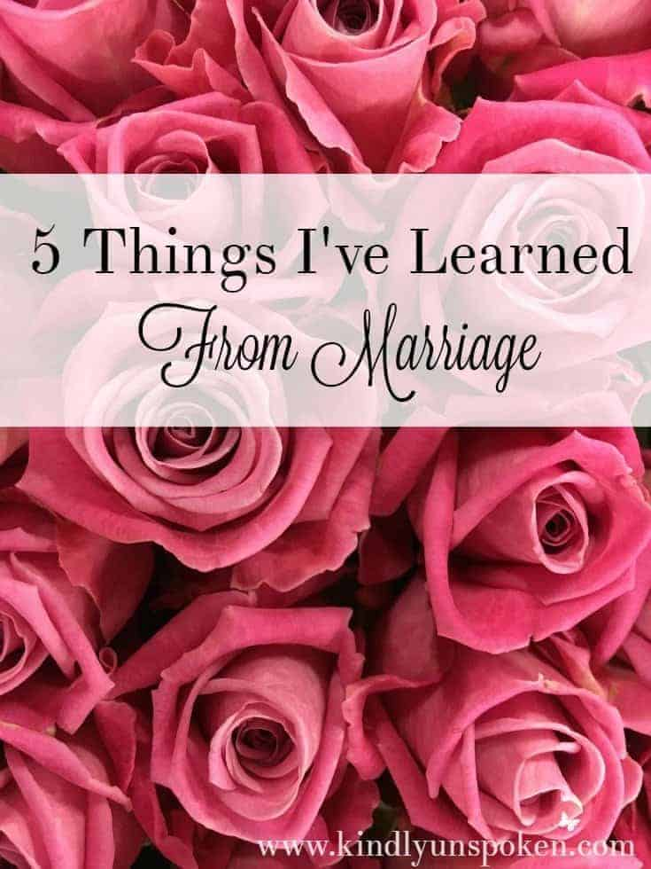 5 Things I've Learned from Marriage
