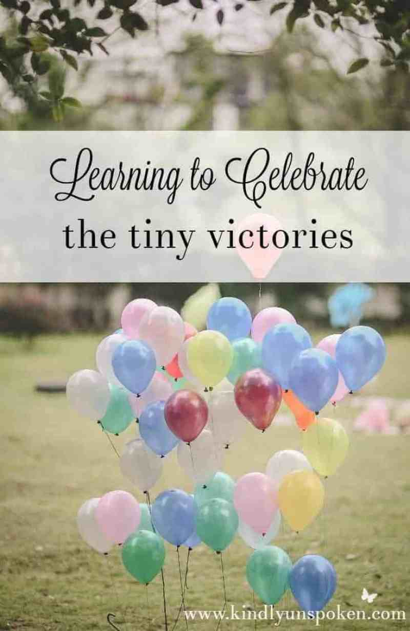 Learning to Celebrate the Tiny Victories