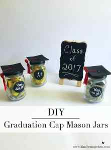 DIY Graduation Cap Mason Jars