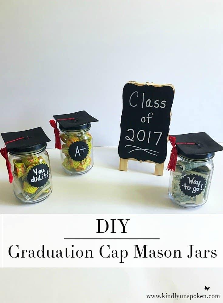 DIY Graduation Cap Mason Jars