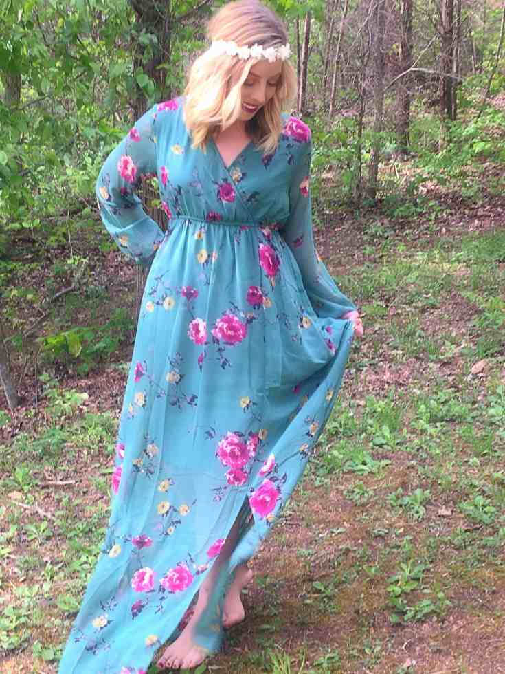 Romantic Garden Floral Dress