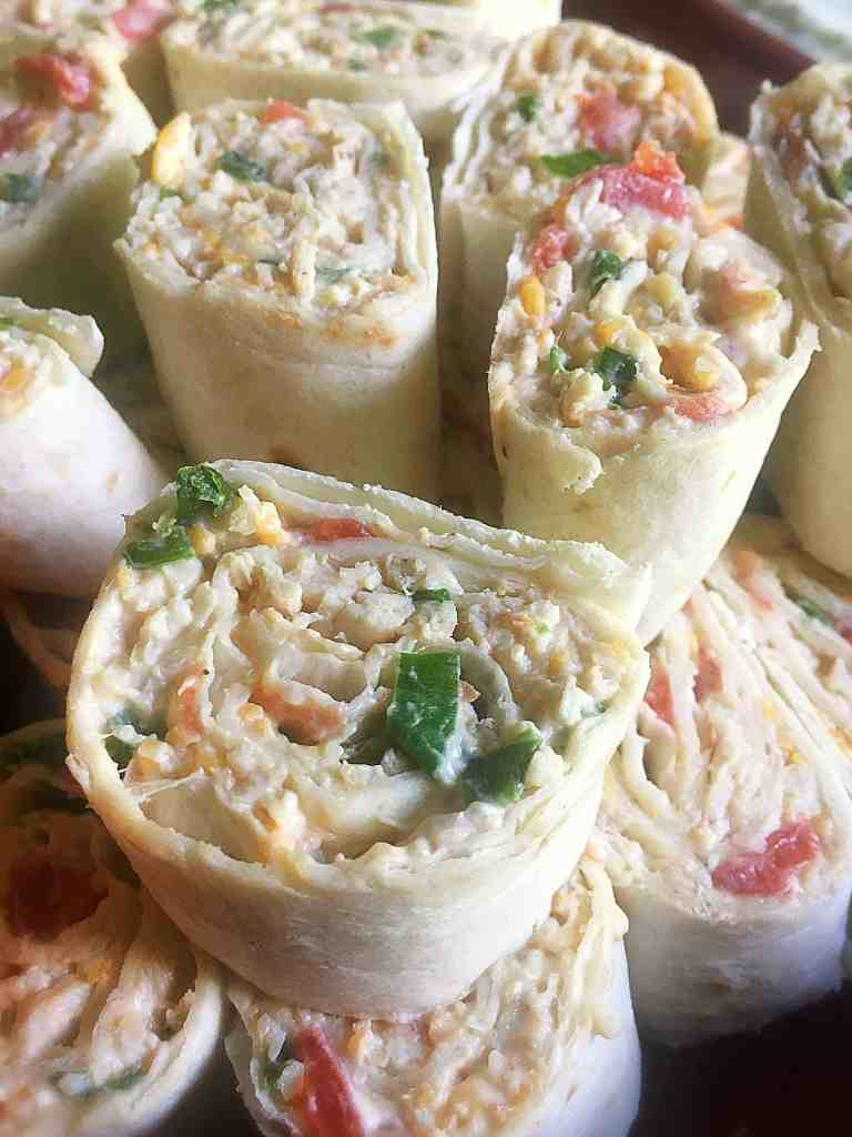 Skinny Chicken Taco Pinwheels- The Perfect Tailgating Recipe