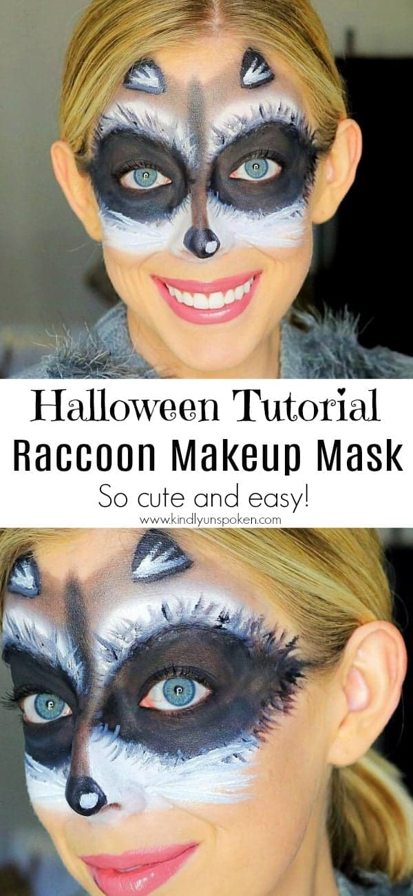 Cute and Easy Raccoon Makeup Mask Halloween Tutorial ... Raccoon Eyes Makeup