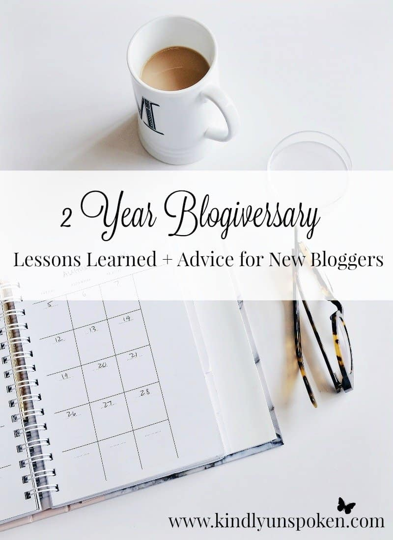 2 Year Blogiversary- Lessons Learned + Advice for New Bloggers