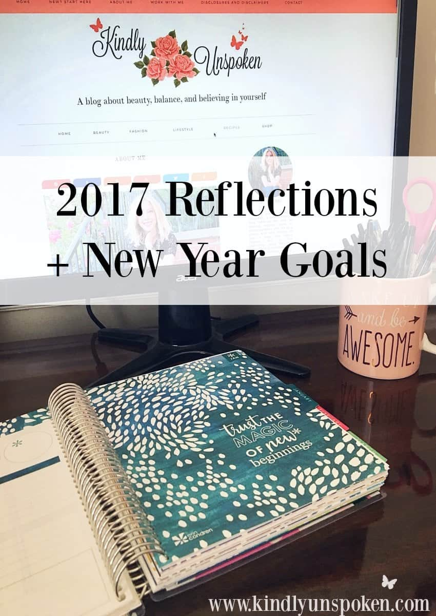 2017 Reflections + New Year Goals- Hear about some of my favorite moments, accomplishments, and struggles as I reflect on 2017, plus my blogging and personal new year goals for 2018!