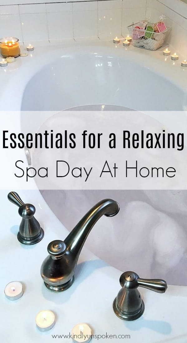Ready for the ultimate spa day at home? Today I'm sharing all the must-have essentials for a relaxing spa day at home, plus the best home spa products for pampering yourself! #homespa #spaday #athomespa #bathproducts #beautyessentials