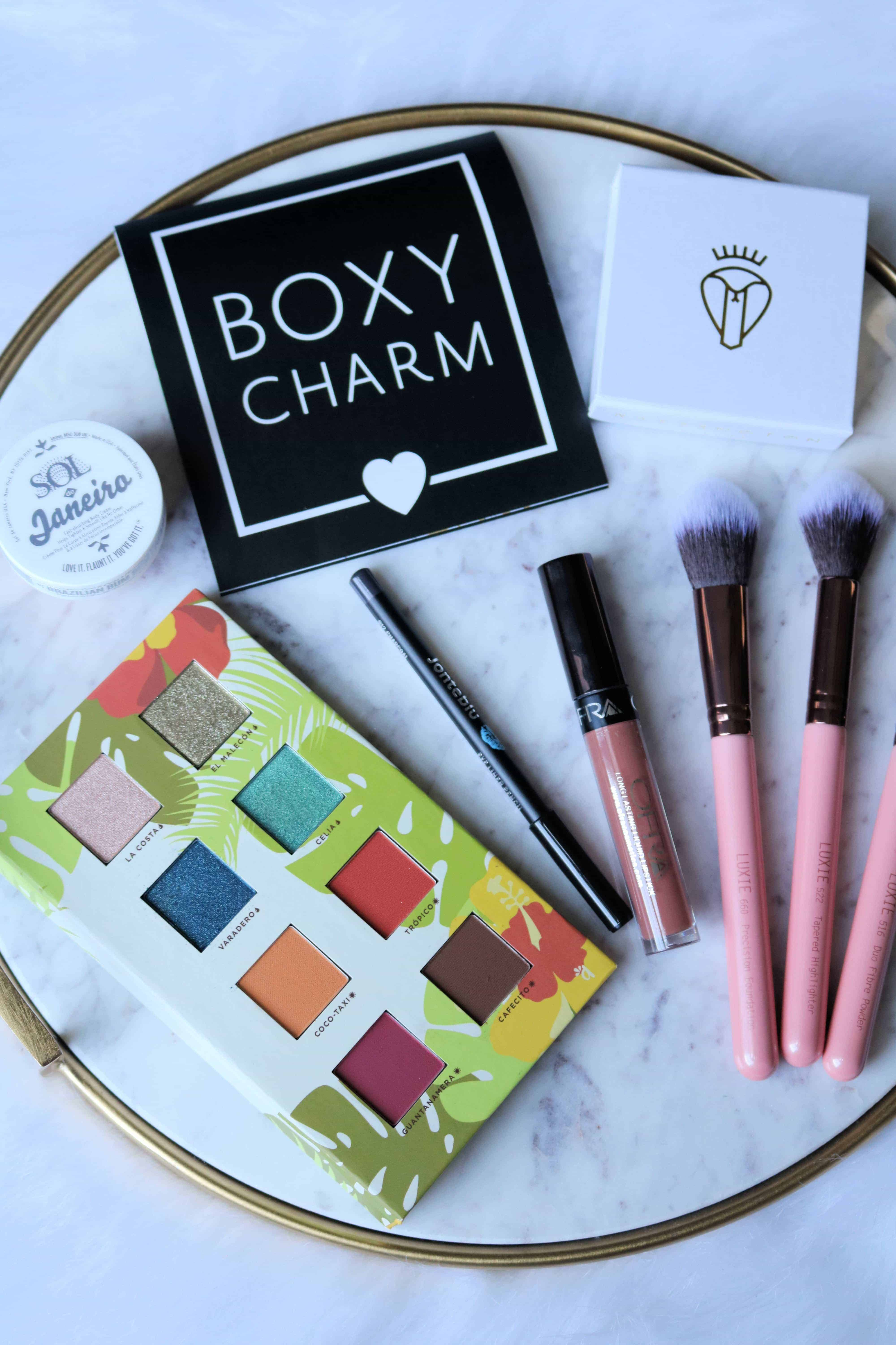 Ever wondered if a BoxyCharm monthly subscription is worth it? Then check out this honest review where I share full details on the quality of the makeup and beauty products in the June 2018 box and whether or not it's worth the money! #boxycharm #subscriptionbox #makeupreview #beautyreview