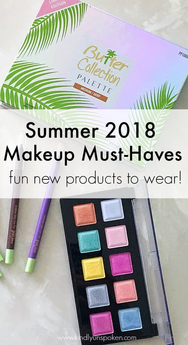 Looking for some new makeup products to wear this summer? Then check out today's post where I'm sharing new summer 2018 makeup and beauty must-haves including a gorgeous face palette, colorful eyeshadow palette, and water-proof eyeliners perfect for wearing all summer long! #makeupmusthaves #summermakeup #makeup2018