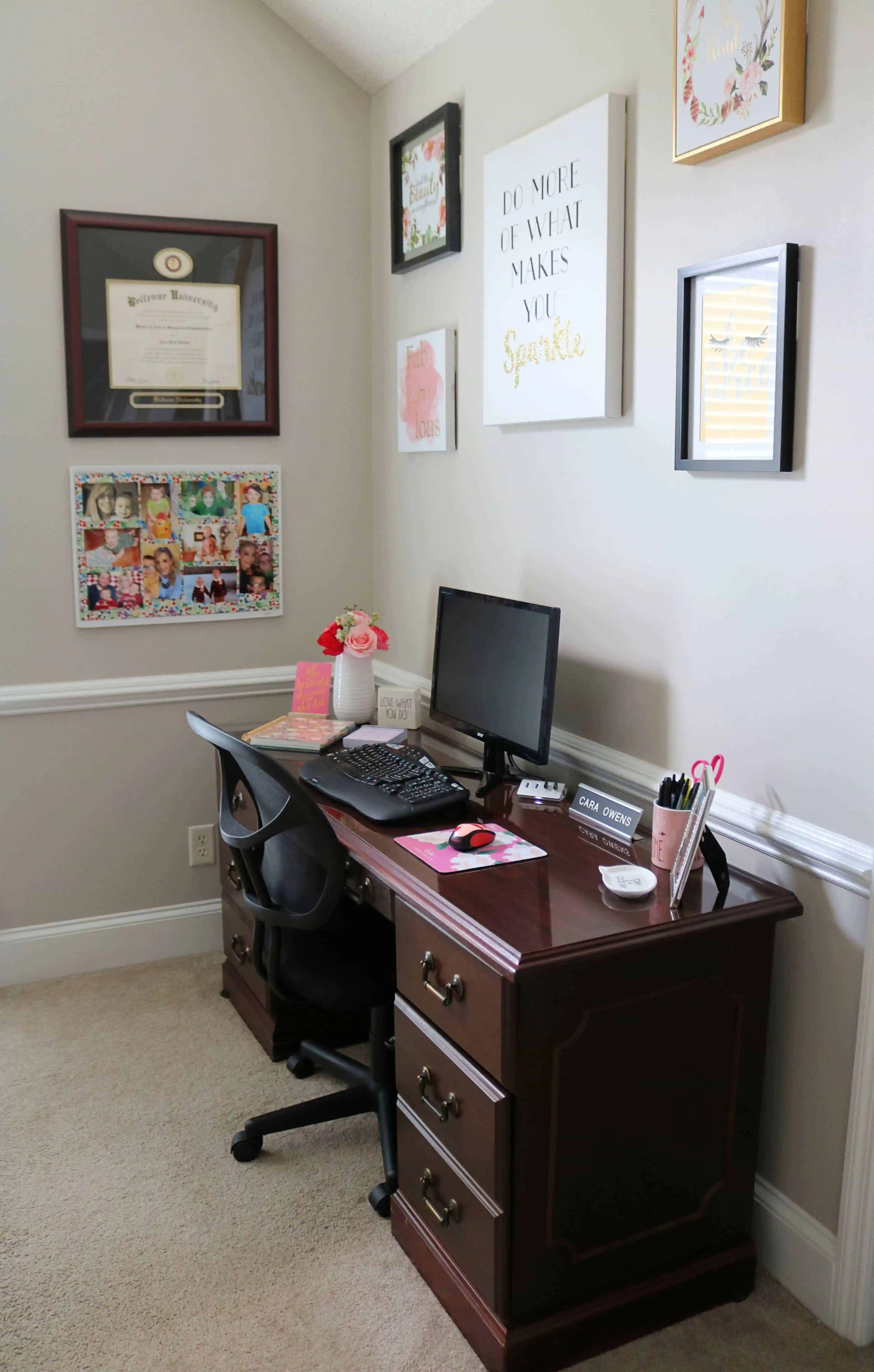 my home office. Tips For Decorating A Home Office + My Reveal
