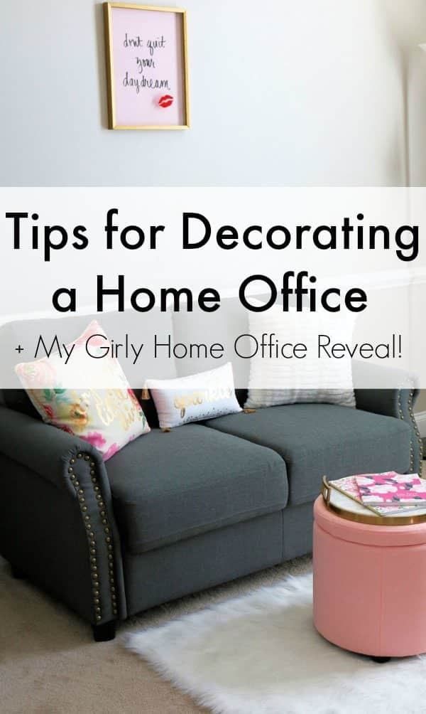 Create Your Dream Home Office Space With My Helpful Tips For Decorating A  Home Office!