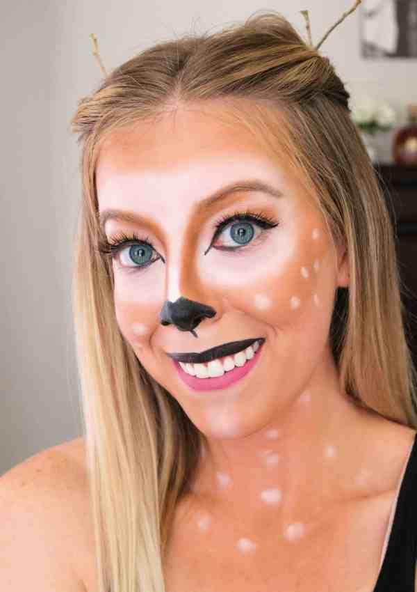 Beautiful + Easy Deer Makeup Halloween Tutorial