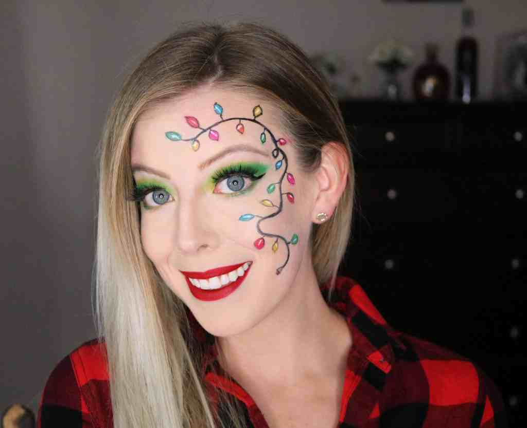 Festive String Lights Christmas Party Makeup