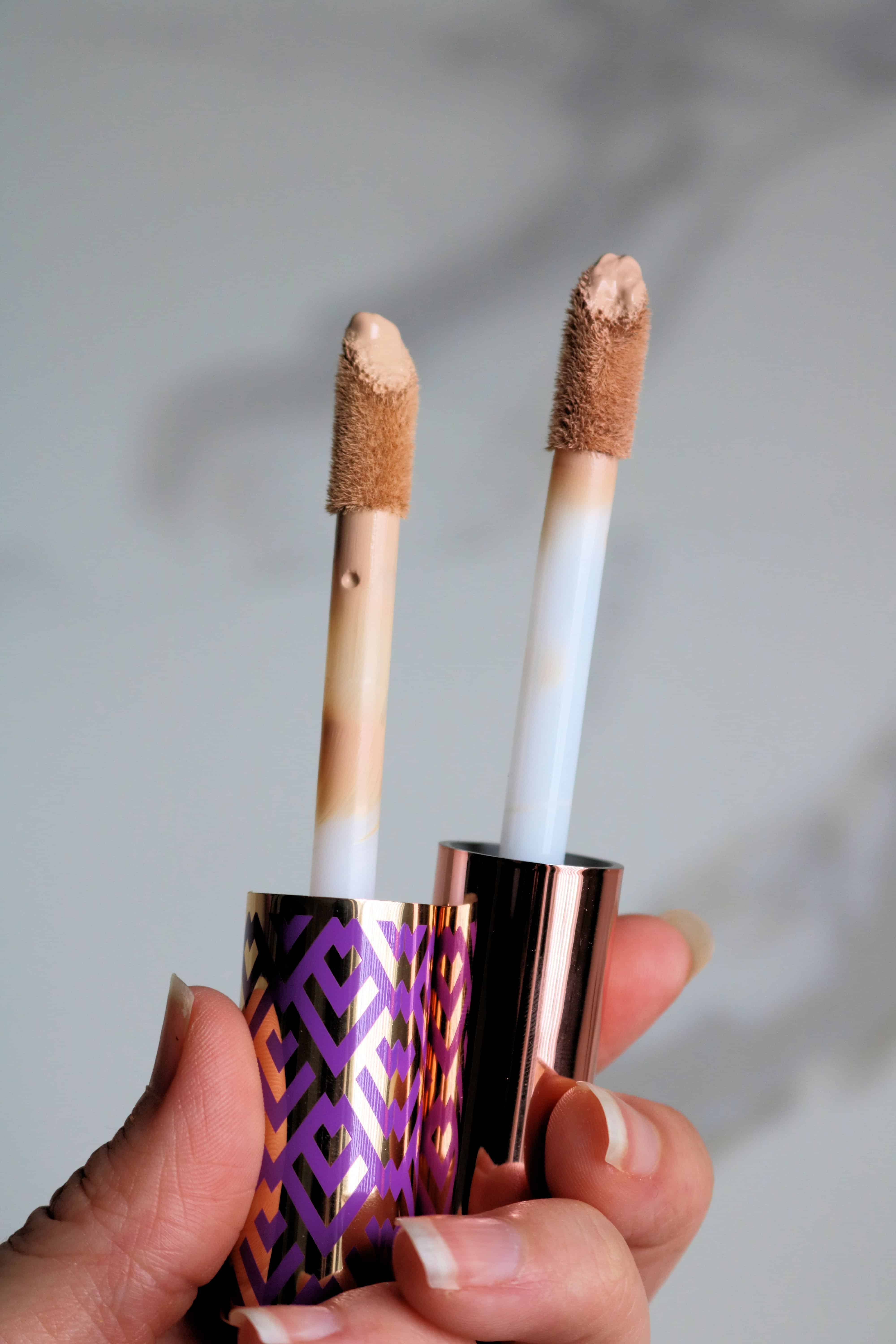 Is the Makeup Revolution Conceal & Define Concealer a dupe for the Tarte Shape Tape? Find out in my full review of this affordable drugstore concealer with swatches and a side-by-side comparison of the two concealers.#drugstoremakeup #makeupreview #dupes