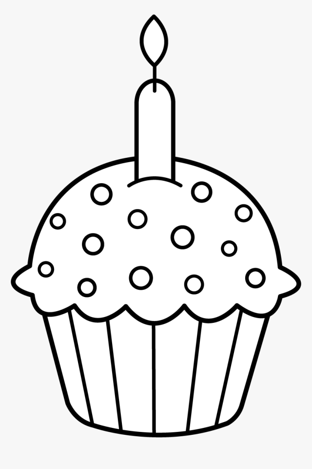 Easy Simple Coloring Page, HD Png Download - kindpng