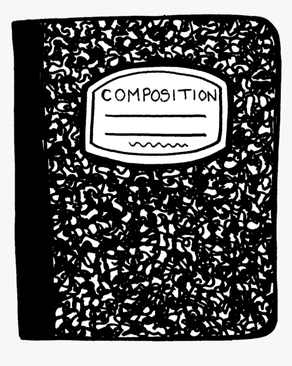 Png Free Library Black And White Notebook Clipart Transparent Png Kindpng
