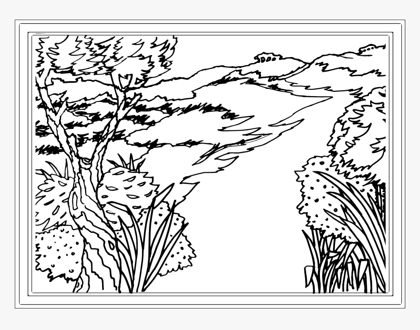 Landscape Coloring Pages Transparent Hd Png Download Kindpng