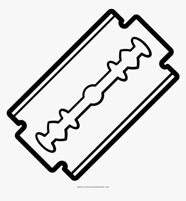 Razor Blade Coloring Page, HD Png Download - kindpng