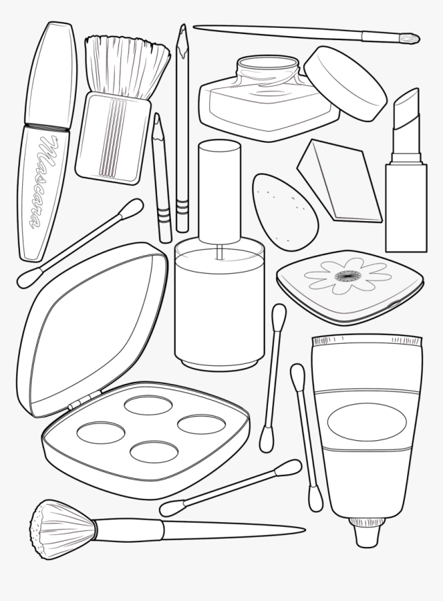 Transparent Tumblr Png Coloring Pages - Косметика Раскраска, Png