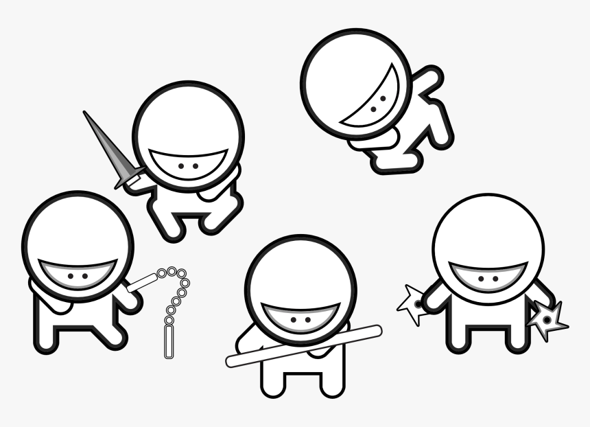 Ninja Coloring Pages For Adults Cute Ninja Coloring Pages Hd Png Download Kindpng