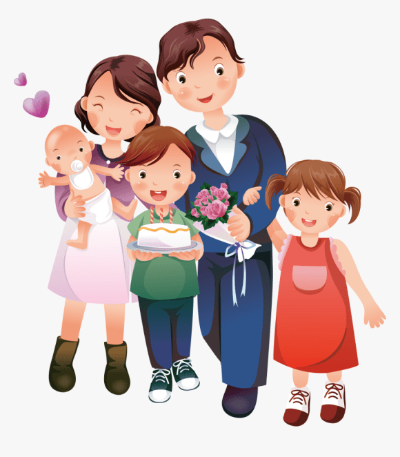 Clip Art Happy Family Clip Art Cartoon Happy Family Clipart Hd Png Download Kindpng