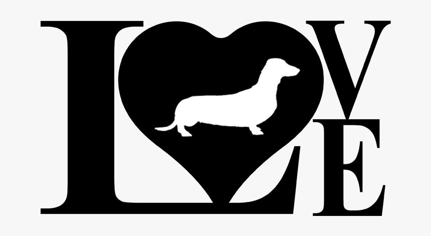Download Love Weiner Dog Svg, HD Png Download - kindpng