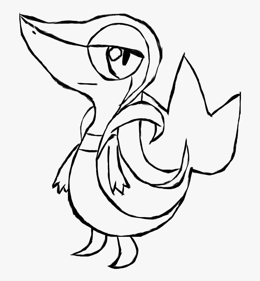 Pokemon Coloring Pages Printable Good Printable Coloring Pokemon Snivy Coloring Pages Hd Png Download Kindpng