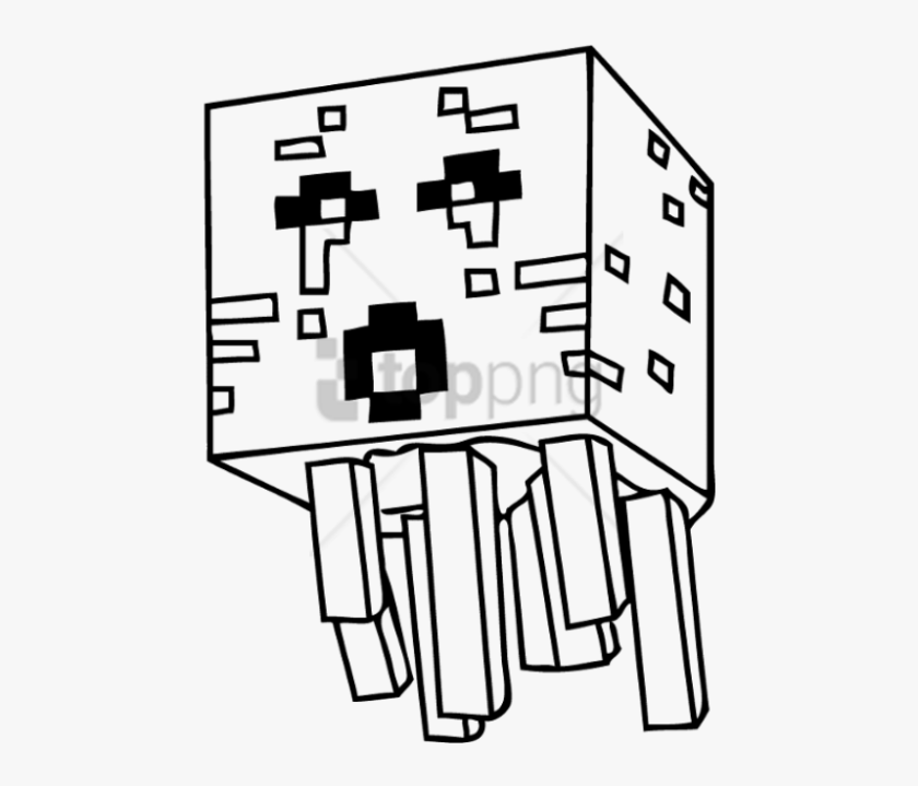 coloring pages drawing minecraft png image