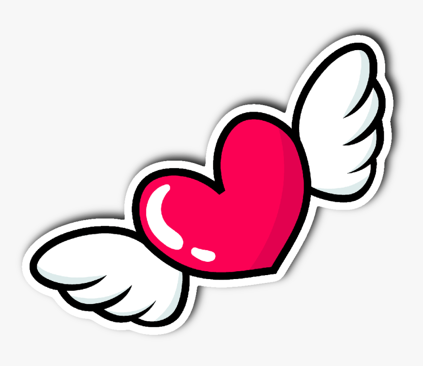 Heart With Wings Sticker Hd Png Download Kindpng