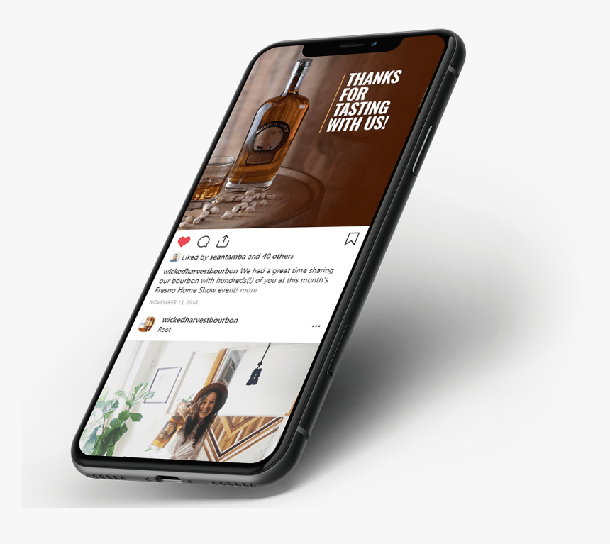 This free instagram story mockup was made for you to use it in your professional showcasing of design projects. Wicked Harvest Instagram Feed On Iphone X Mockup Instagram Feed On Iphone Hd Png Download Kindpng