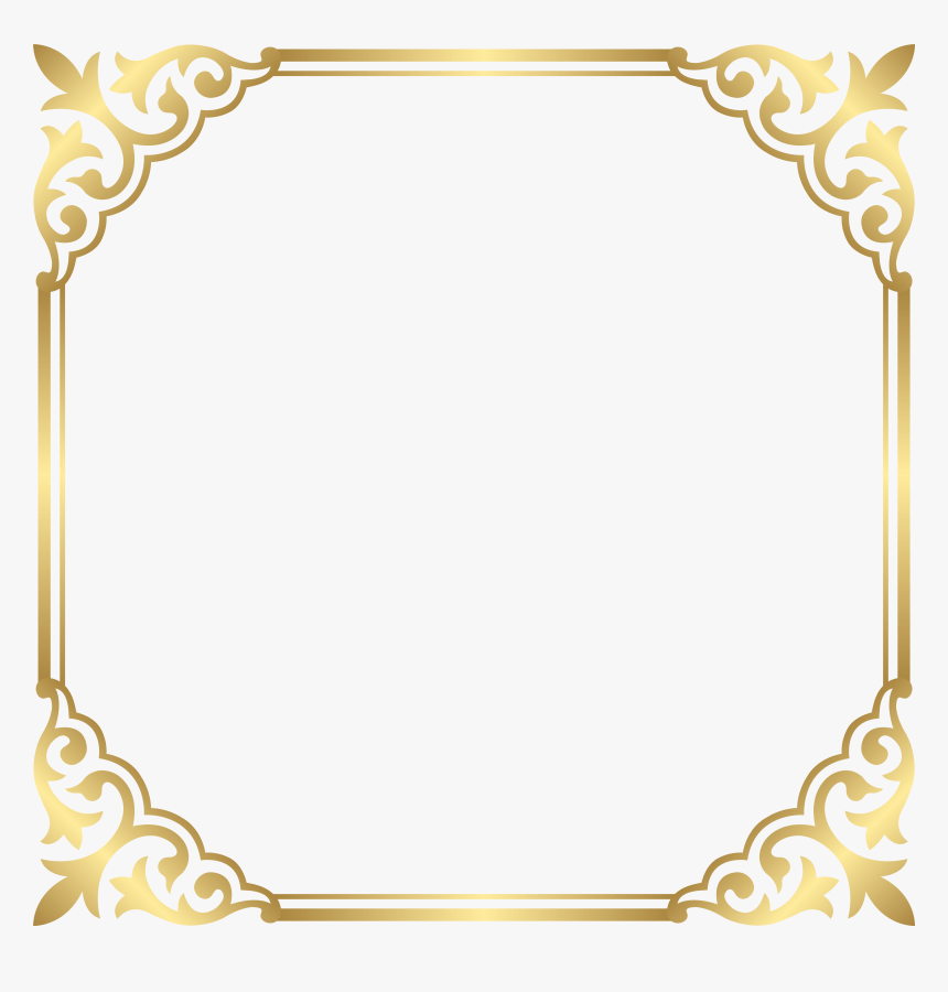 Clip Art Gold Page Borders Hd Png Download Kindpng