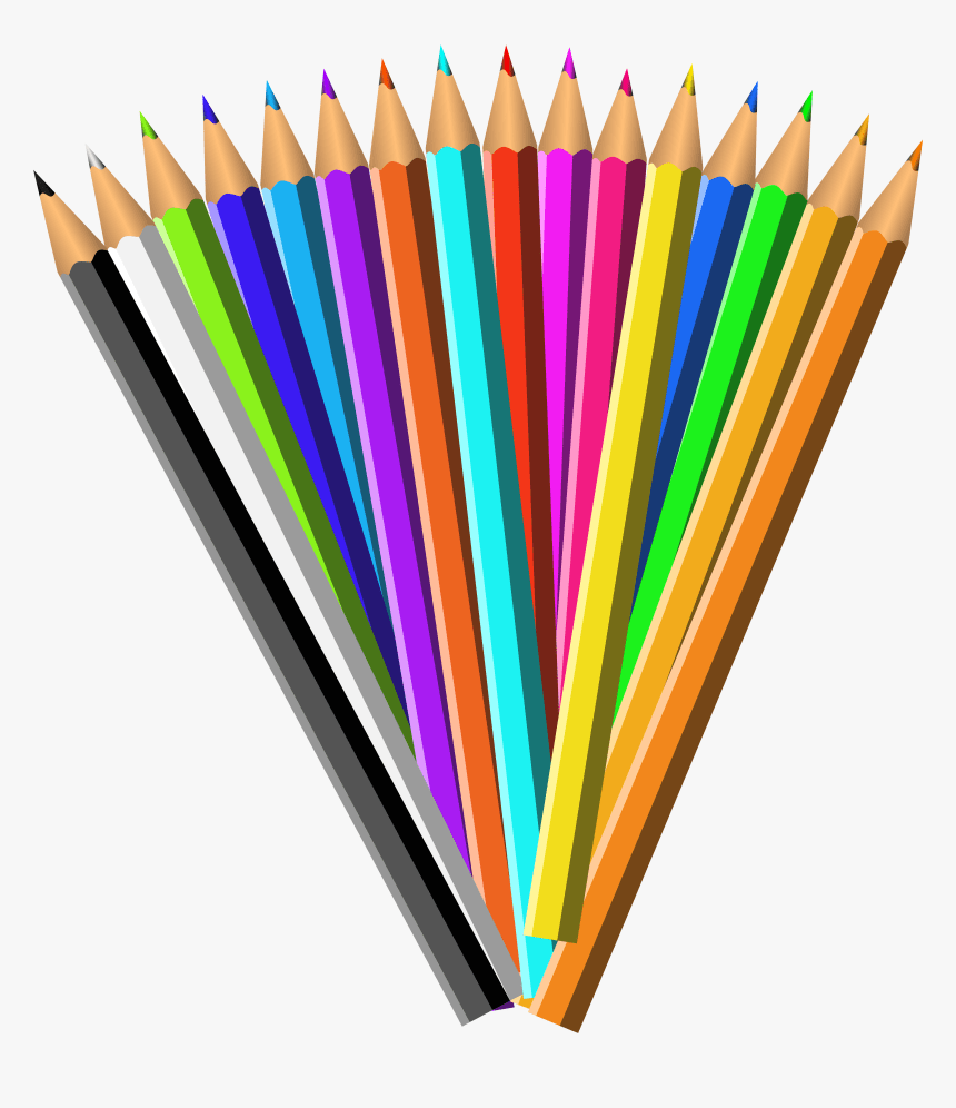 Pencil Clip Art Colour Pencil Clipart Png Transparent Png Kindpng