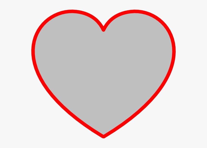 Heart Shape Outline Clip Art Large Printable Heart Tag Hd Png Download Kindpng
