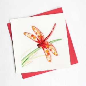 CARD QUILLING DRAGONFLY
