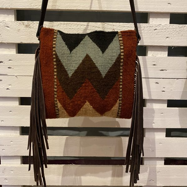 PURSE WOOL SMALL W/FRINGE CROSSBODY