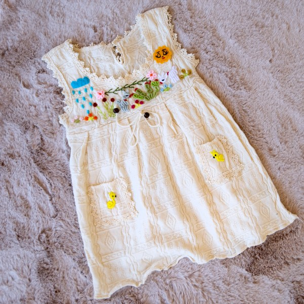 EMBROIDERED COTTON KID DRESS