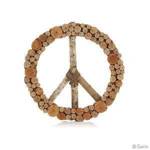 Peace Wreath – Rustic Wood